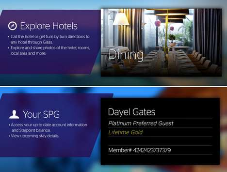 Hotel-Booking Eyeglass Apps - Starwood Hotels & Resorts' Google Glass App Makes Bookings in a Blink