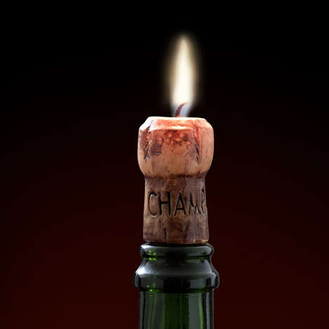 Champagne Cork Candles - These Celebratory Candles Set the Mood for Champagne-Popping Champions