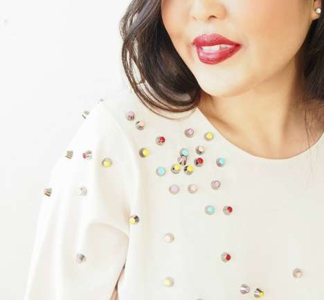 Studded Blouse Tutorials - This Chanel-Inspired Top is Perfect for Budget-Conscious Fashionistas