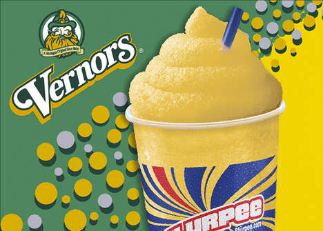 Vintage Soda Slushies - 7-Eleven Slurpees are Introducting the Vernons Ginger Ale Slurpee