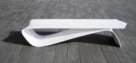 Cotter Pin Seating - The ALPHA Bench by Veronica Martinez is Sleek and Simple