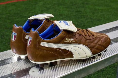 Luxurious Leather Soccer Boots - The Puma King Top Italia Honors Italy's 1982 World Cup Triumph