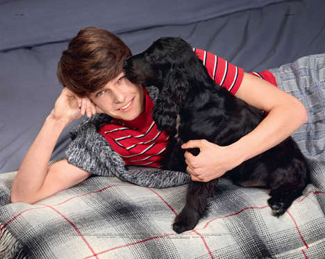 Dog-Loving Model Captures - The Hommes et Chiens Double Magazine Editorial Embraces Furry Pets