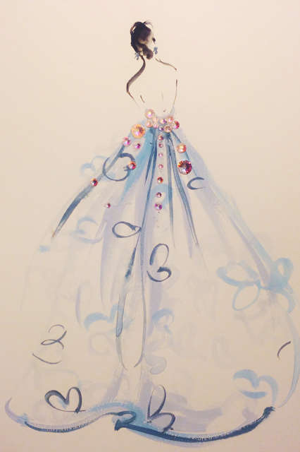 Costume Institute Illustrations - MET Gala 2014 by Katie Rodgers Recreates Favorite Dresses