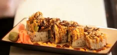 Insect-Infused Sushi - Peter Yung Sells Insect Sushi that is Unrecognizably Buggy