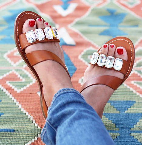 Bejeweled Summer Accessories - These DIY Jewel Sandals are Inspired by Marni's Luxe Footwear Designs