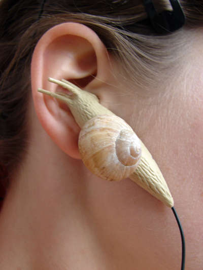 Garden Pest Earbuds - Klara Pernicova's Odd Earbud Design Features Two Slugs at Your Ears
