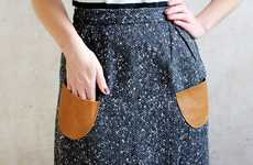 DIY Dress Pouches - The A Beautiful Mess Leather Pockets Update Basic Apparel