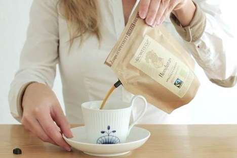 Portable French Press Pouches - This One-Bag Disposable Coffee Maker Combines Filter and Press