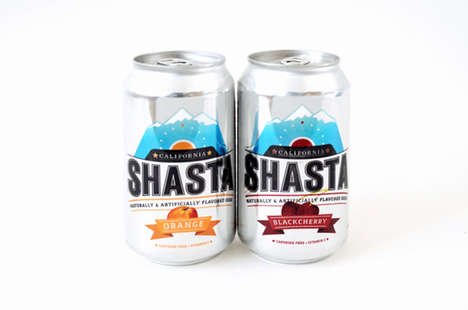 Upscaled Soda Branding - Shasta Needed a New Look to Appear Higher in Quality