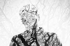 13 Double Exposure Nature Portraits