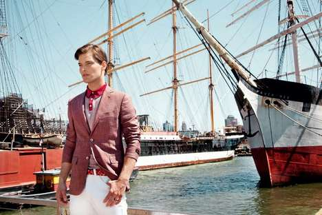 Preppy Boatside Editorials - This Elle Man Hungary Editorial Features Janos Molnar