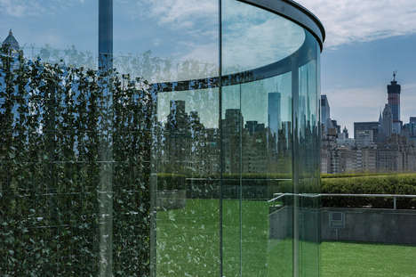 Skyline-Mirroring Installations - The Dan Graham Design Sits Atop the Metropolitan Museum of Art