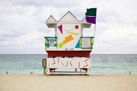 Coastal Cabin Photography - These Images of Miami Beach Houses are Beautifully Repetitive
