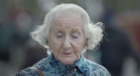Singing Senior Ads - This Vodafone Red 4g Commercial Celebrates Discovering New Music at Any Age