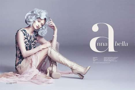 Prim Silver-Haired Editorials - The FASHIONTREND Australia Renaissance Issue Stars Annabella Barber