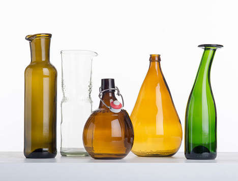 Sculptural Glass Vessels - Laura Jungmann Creates Upcycled Glass Receptacles