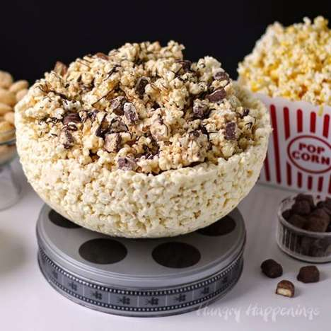 Edible Movie-Themed Dishes - The White Chocolate Popcorn Bowl Ensures Snacking is Endless