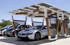 Ingenious Solar Carports - This Energy-Efficient Solar Carport is Designed for BMW Electric Vehicles
