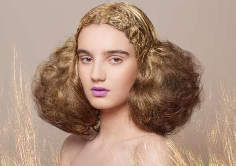 Ethereal Gilded Hair Captures - The Goldness Beauty Scene Exclusive is Delicate and Demure