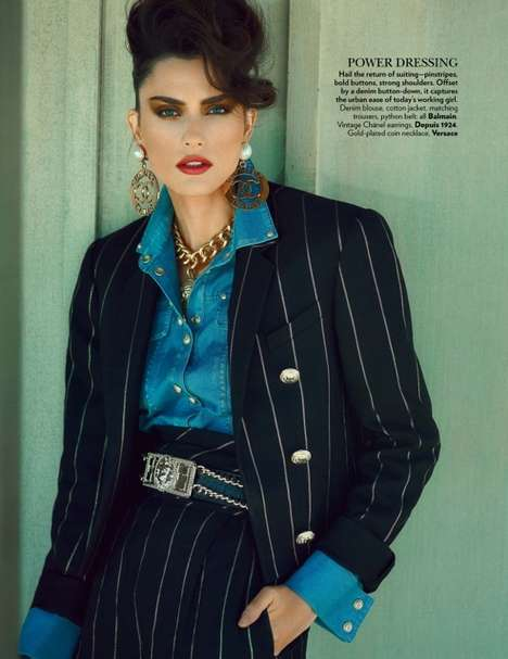 Multiple Personality 90s Fashion - The Vogue India June 2014 Editorial Stars Model Nathalia Nova