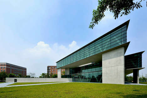 Triangular Museum Architecture - Tadao Ando Builds the Asia Museum of Modern Art