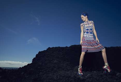 Mod Mountainous Photoshoots - The Bergdorf Goodman March 2014 Life Force Editorial is Outdoors