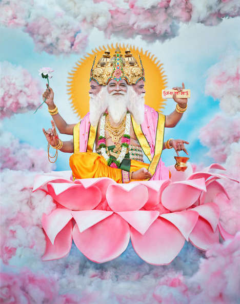 Vibrant Deity Photos - 'Darshan' Comprises Photographically Recreated Images of Hindu Gods