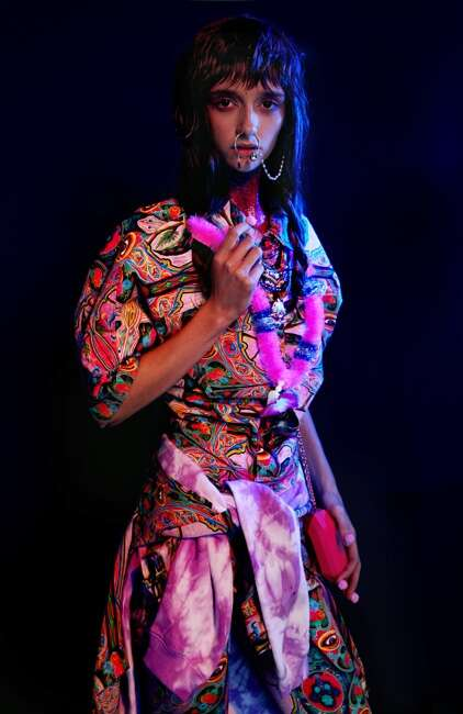Gypsy Raver Editorials - The Karma Chameleon Oyster Image Series Revives 90s Styling