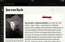 Vintage Encyclopedia Apps - The das Referenz: Wikipedia Info App is Styled Like an Old Book
