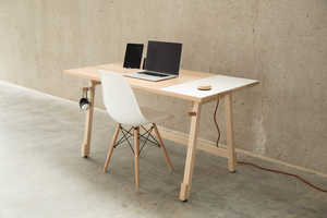 The Artifox Desk Expertly Hides Pesky Electrical Cords