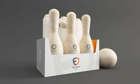 Bowling Pin Beer Bottles - The Ford Jekson by Constantin Bolimond Turns Drinking into a Game