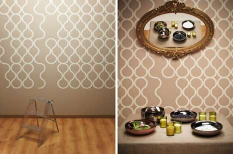 Peelable Perforated Wallpapers - This Circular Patterned Wallpaper by ZNAK Has a Tear-Off Design