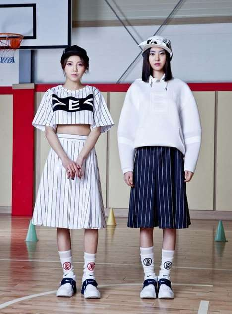 Sporty Collegiate Fashion - The CRES. E DIM SS14 Collection is Full of Shapeless Silhouettes