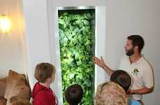 Air Duct Vertical Gardens - The Biowall by Purdue University Absorbs Toxins and Breaks Them Down