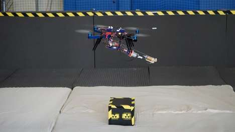 Foam-Spewing Quadcopters - This Quadcopter Can Produce 3D-Printed Foam Structures While Flying