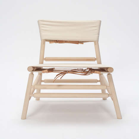 Elegant Canvas Furnishings - The Farstol Chair by Theo Zizka Embodies Clean Sophistication