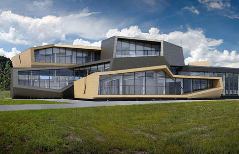 Massive Multi-Level Architecture - Za Bor Architects Creates the Istra Tennis Club in Moscow