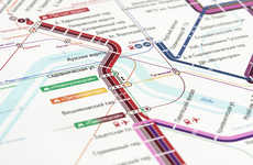 Color-Coded Tram Maps - None.ru Updates the Visuals for the Moscow Tram System