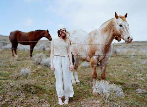 Hand-Spun Knitwear Lines - The Josie Faye Spring/Summer Collection is Made by Hand