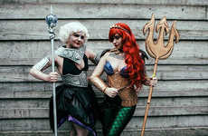 Combatant Disney Cosplays - This Disney Cosplay Features Princess Ariel and Evil Ursula
