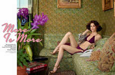 Housewife Swimwear Editorials - The W Magazine 'More is More' Photoshoot Stars Model Hilary Rhoda