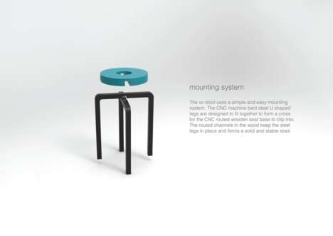 Modernly Affectionate Seating - The XO Stool by Casey Lin Gives Symbolic Hugs and Kisses