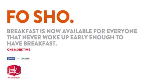 Invariable Breakfast Time Sites - Jack in the Box Proves You Can Always Have Breakfast for Dinner