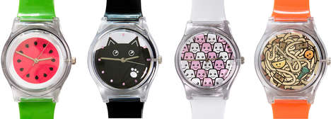 Adorable Anime Timepieces - Cakes with Faces Watch Collection is Inspired by Japanese Pop Culture