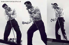 Retro Elvis-Themed Editorials - The King Fashion Story for GQ Style UK Tributes the Music Legend