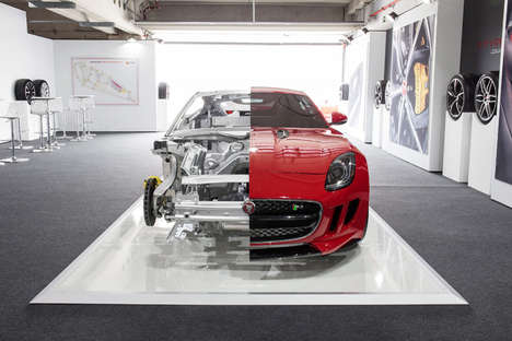 Severed Sports Cars - This Cutaway Jaguar F-Type Coupe Exposes the Vehicle