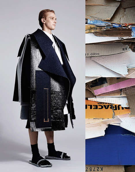 Artfully Deconstructed Menswear - The Ximon Lee Graduate Collection Displays Oversized Elements