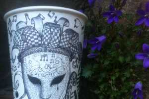 Gabriel Lafitte Nkweti Draws Customers' Names on Coffee Cups