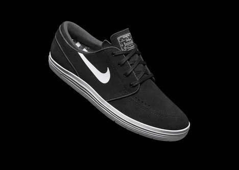 Foam-Cushioned Skate Kicks - These Nike SB Lunar Shoes Minimize the Impact of Harsh Landings